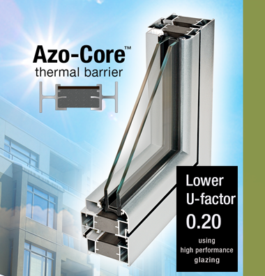 New azo core thermal barrier azon for Thermal star windows